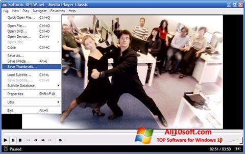 Ảnh chụp màn hình Media Player Classic cho Windows 10