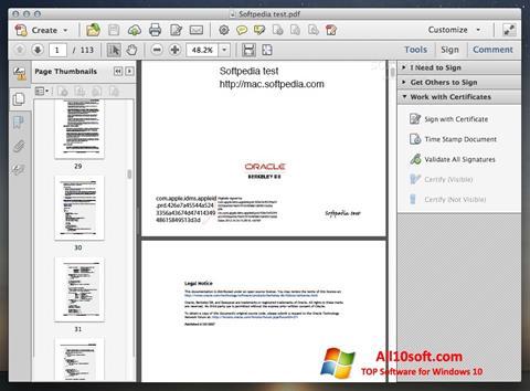 Ảnh chụp màn hình Adobe Acrobat cho Windows 10