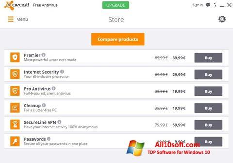 Ảnh chụp màn hình Avast Free Antivirus cho Windows 10