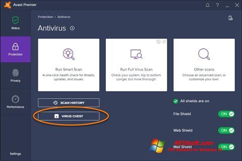 Ảnh chụp màn hình Avast cho Windows 10