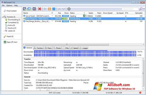 Ảnh chụp màn hình BitTorrent cho Windows 10