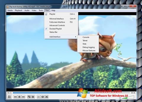 Ảnh chụp màn hình VLC Media Player cho Windows 10