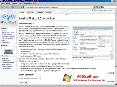 Ảnh chụp màn hình Mozilla Firefox cho Windows 10
