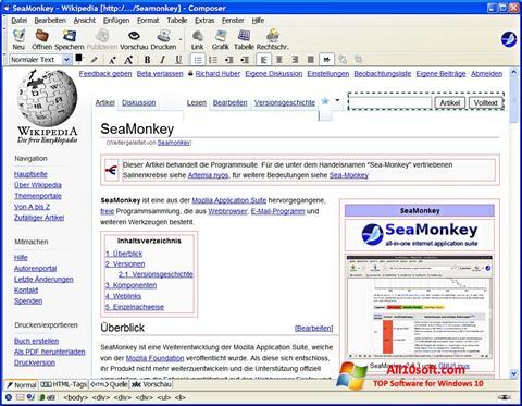 Ảnh chụp màn hình SeaMonkey cho Windows 10