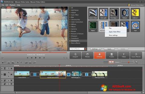 Ảnh chụp màn hình Movavi Video Suite cho Windows 10