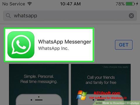 Ảnh chụp màn hình WhatsApp cho Windows 10