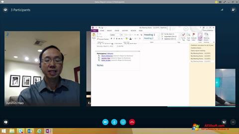 Ảnh chụp màn hình Skype for Business cho Windows 10