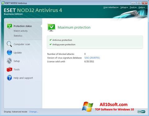 Ảnh chụp màn hình ESET NOD32 cho Windows 10