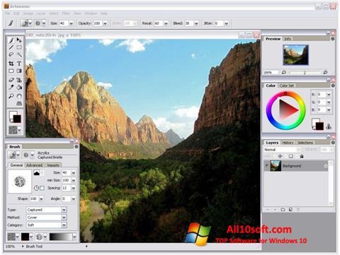 Ảnh chụp màn hình Artweaver cho Windows 10