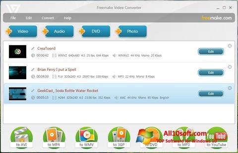 Ảnh chụp màn hình Freemake Video Converter cho Windows 10