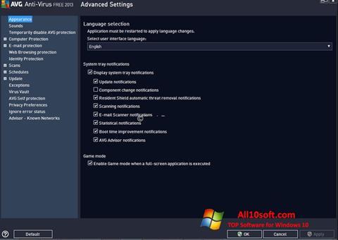 Ảnh chụp màn hình AVG cho Windows 10