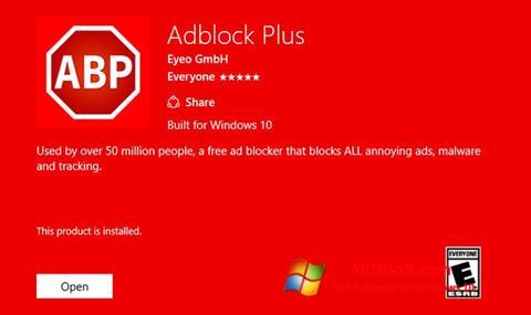 Ảnh chụp màn hình Adblock Plus cho Windows 10