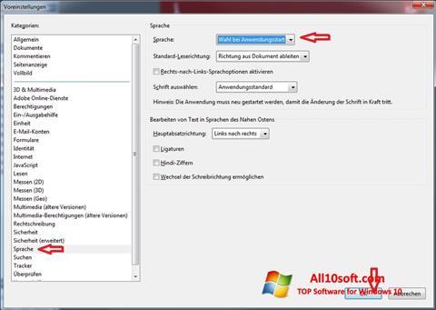 Ảnh chụp màn hình Adobe Reader cho Windows 10