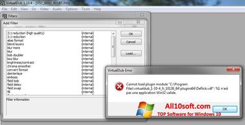 Ảnh chụp màn hình VirtualDub cho Windows 10